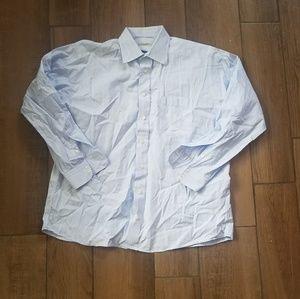 Burberry London blue button down pocket shirt 17 r